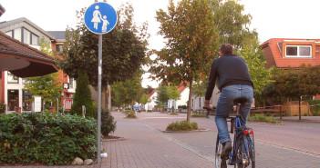 Gehweg Radler