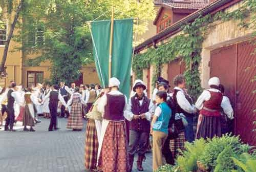 Begrüßung in Vilnius