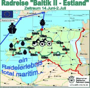 Reiseroute Estland
