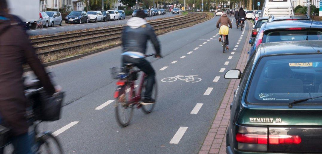 Schutzstreifen für Radfahrer