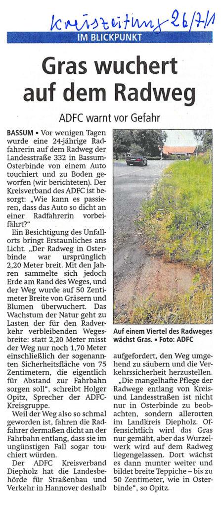 Gras wuchert -- Kreiszeitung