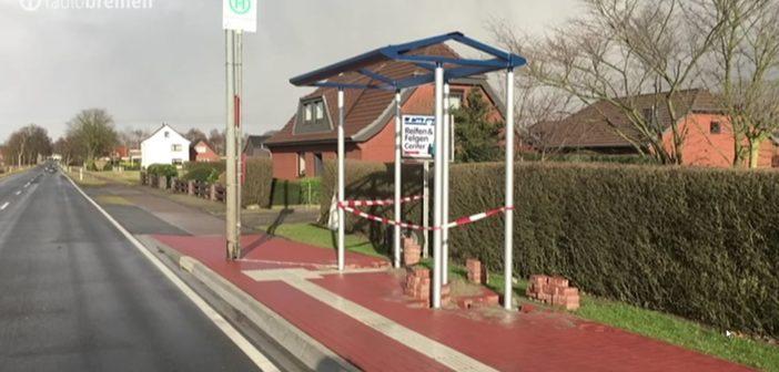 Bushaltestelle auf dem Radweg (Achim) — dümmer geht's n(i)mmer