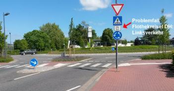 Problemfall Flöthekreisel: Linksverkehr