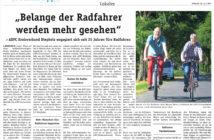 Belange der Radfahrer werden mehr gesehen, Wochentipp 28.06.2017