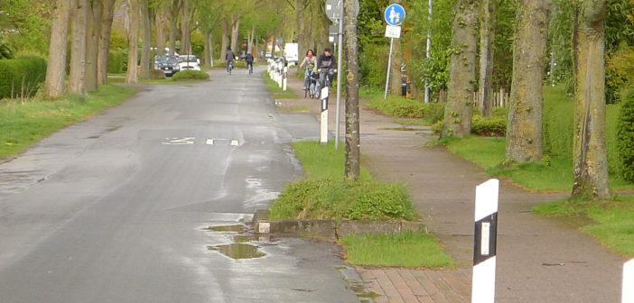 Gefährliche Fahrbahn-Einbauten in Weyhe