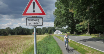 Keine Radwegbenutzungspflicht wegen Schäden im Radweg mehr