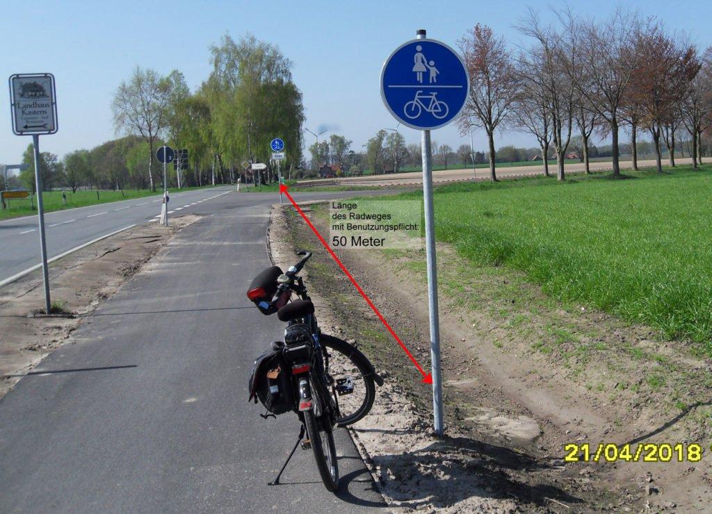 50 Meter Radweg