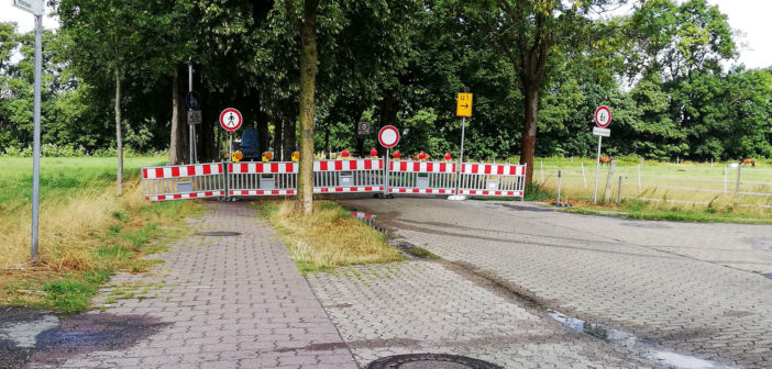 Gasleitung: Vollsperrung 'Am Angelser Feld'
