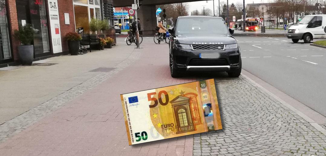 Radweg-Parken jetzt teuer