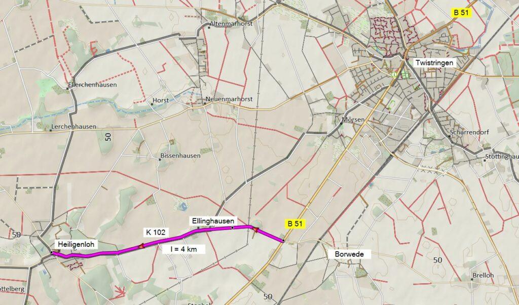 K 102 Lageplan Heiligenloh