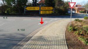 Ende Radweg K 102