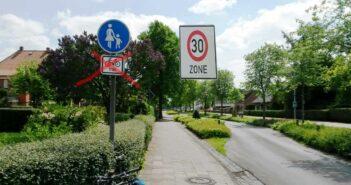 Radfahrer nicht mehr frei