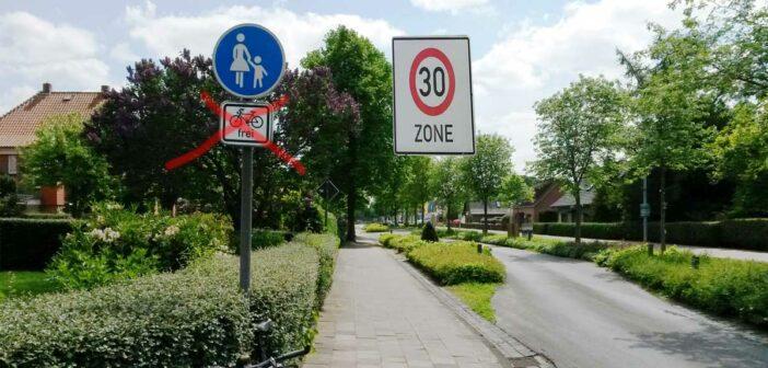 Weyhe: Runter vom Gehweg in Tempo 30-Zonen