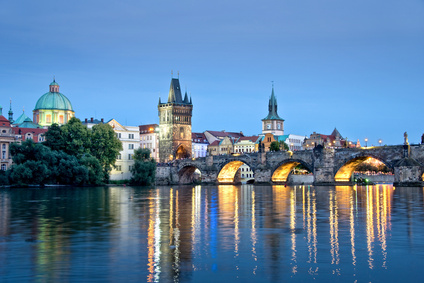 Vltava river and Charles bridge, Prague