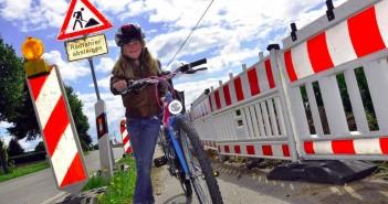 baustelle radfahrer