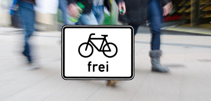 Gehweg Radfahrer frei